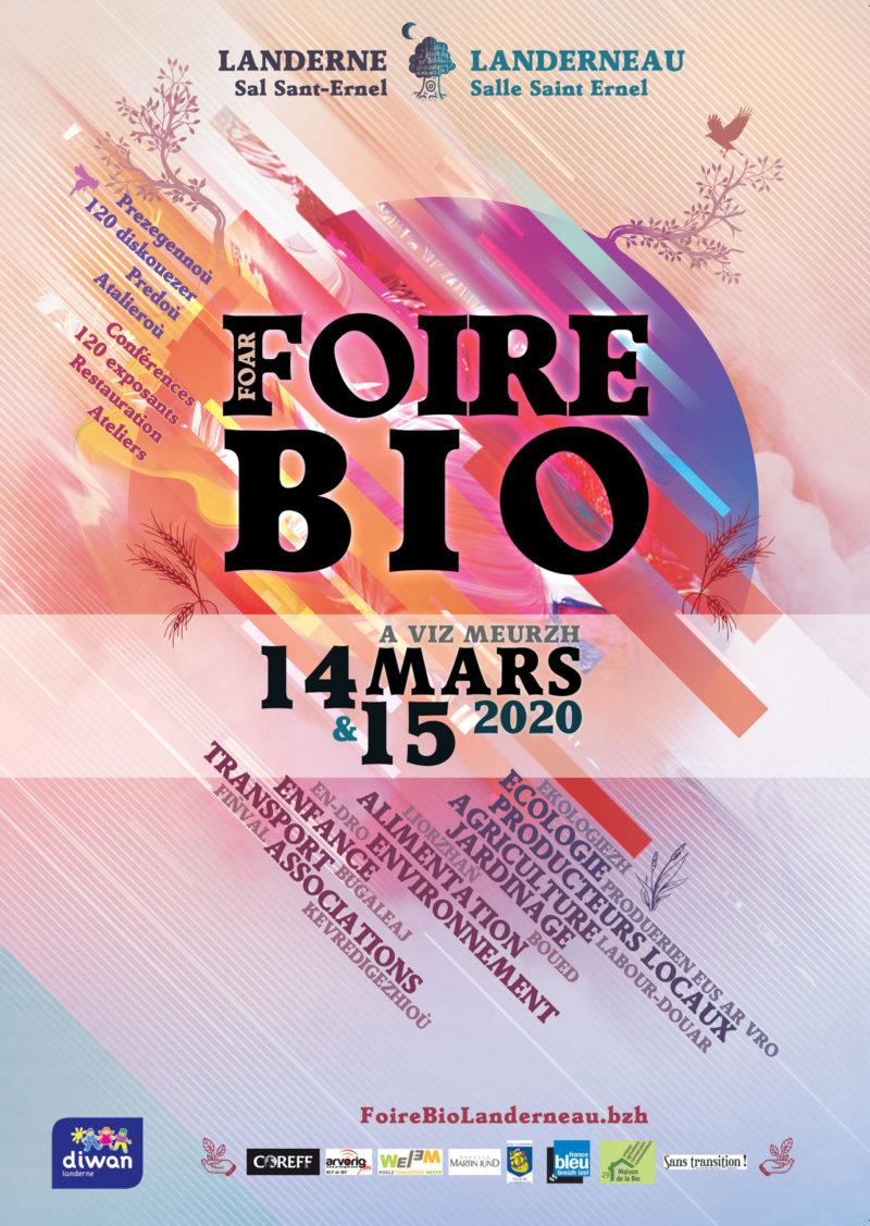 Foire bio de Landerneau, 14 et 15 mars 2020