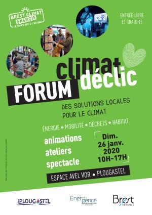 Forum Climat Déclic, Plougastel, dimanche 26 janvier