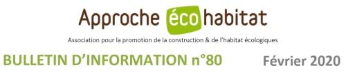 Newsletter Approche-Écohabitat, février 2020
