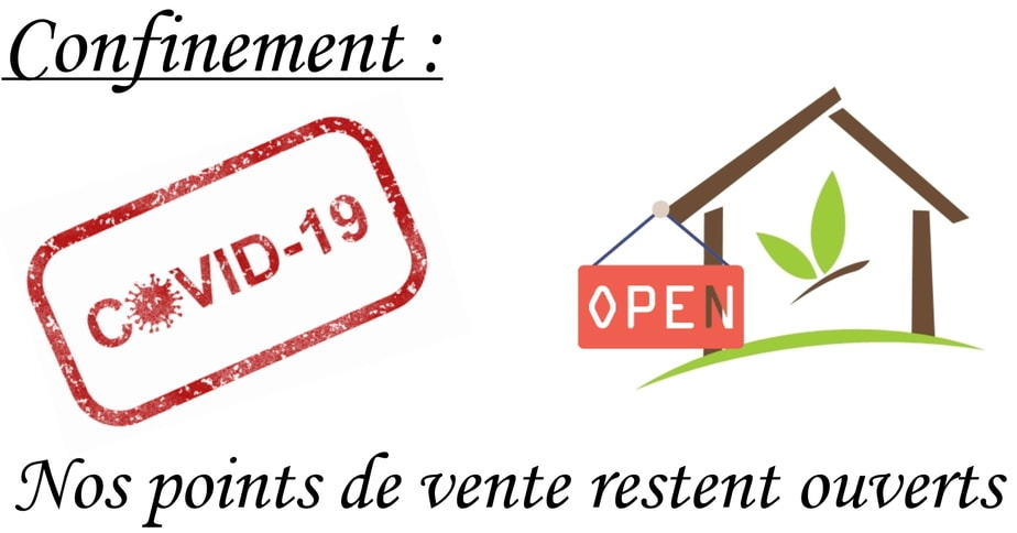 Covid-19 : nos magasins sont ouverts